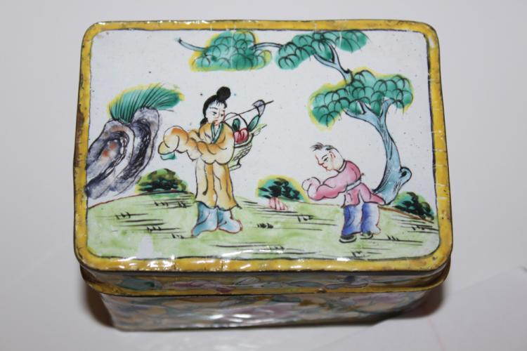 Antique Chinese 19th / Early 20th Century Chinese Cloisonne Box