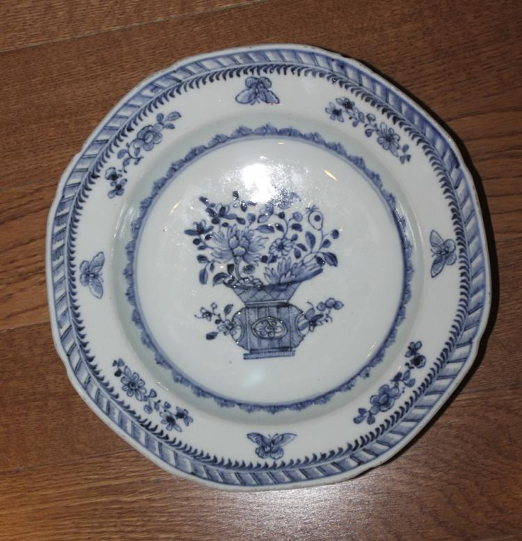 Antique Chinese 18th / 19th Century Blue and White Export Bowl.