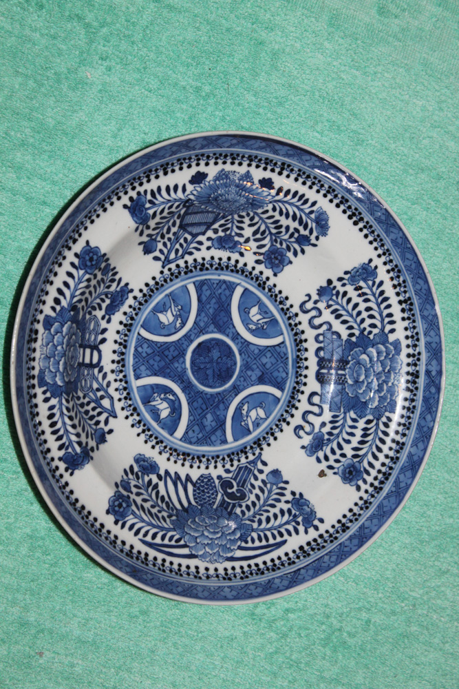 Antique Chinese 18th / 19th Century Blue and White Export Soup Bowl.