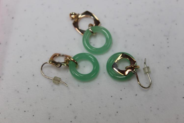 Beautiful Apple Green Jade Earrings and Pendants