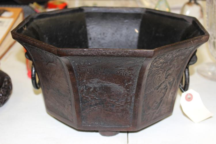 Cast Iron Oriental Plant Pot
