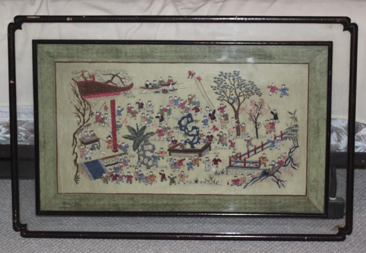 Antique Chinese Early 20th Century Embroidery