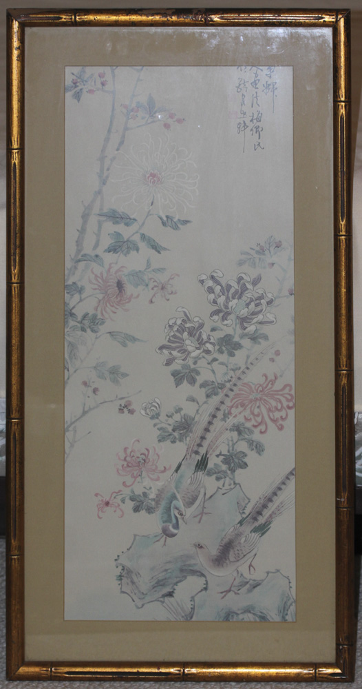 Antique / Vintage Chinese Painting / Print on Silk