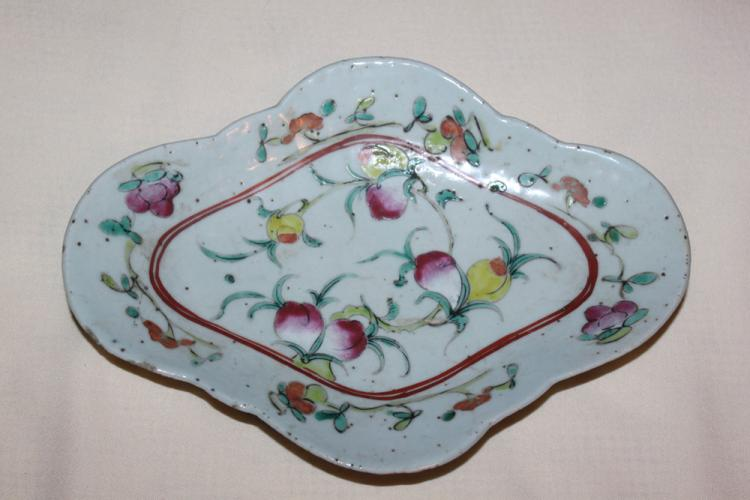 Antique Chinese 19th Century Famille Rose Dish / Plate / Bowl