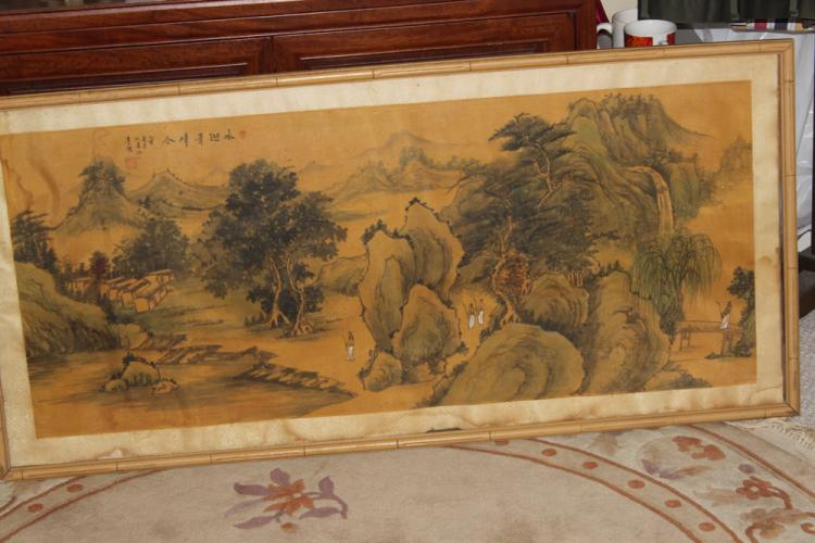 Antique Chinese Watercolor on Silk or Paper