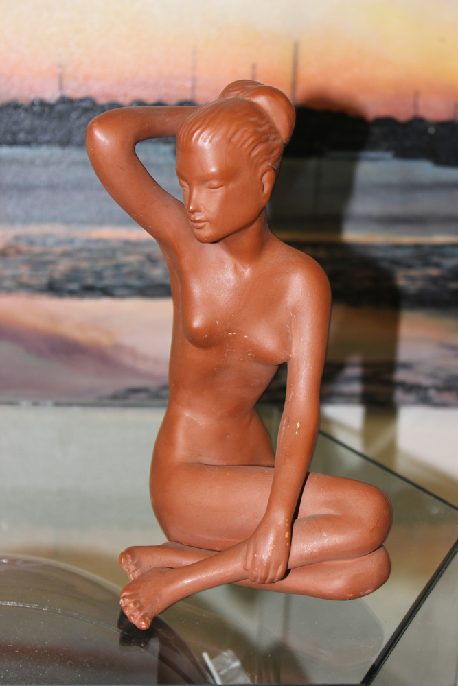 Fink Nude Pottery of a Lady by Gmundner Keramik, Austria