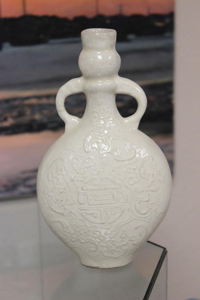 Antique Chinese Blanc de Chine 19th C Vase