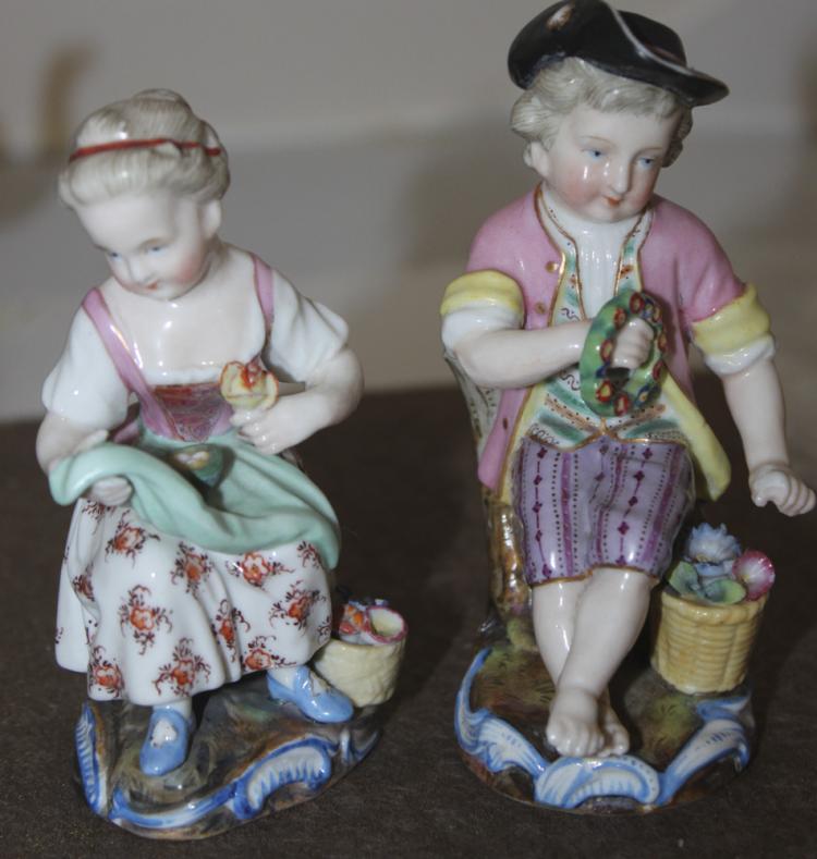 Antique German Two Dresden Figurines