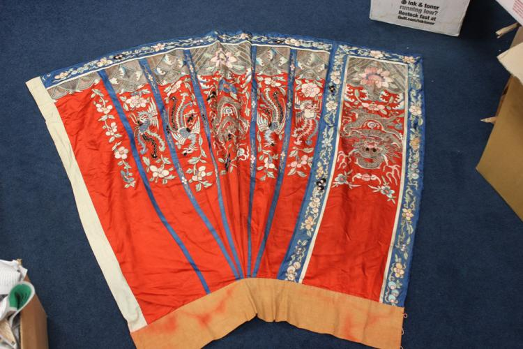 Antique Chinese Dragon Silk Skirt