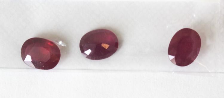 Lot of Loose Oval Cut Ruby Gemstones 6.22 ctw