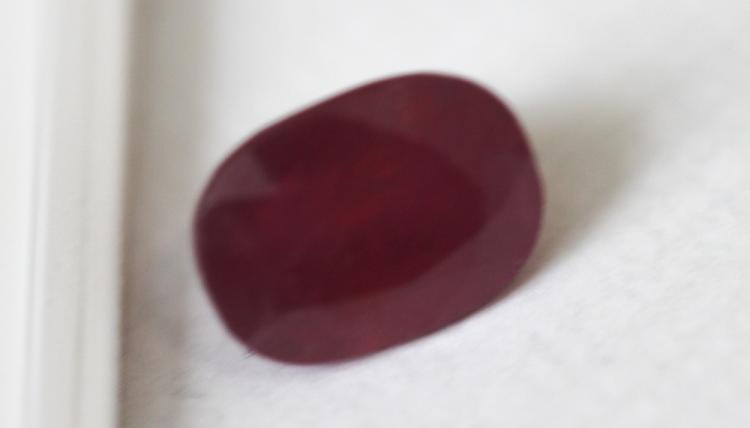 3.18 ct Cushion Cut Ruby Gemstone
