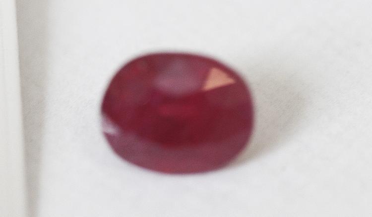 3.39 ct Cushion Cut Ruby Gemstone