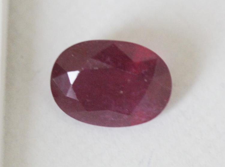 3.92 ct Oval Cut Ruby Gemstone