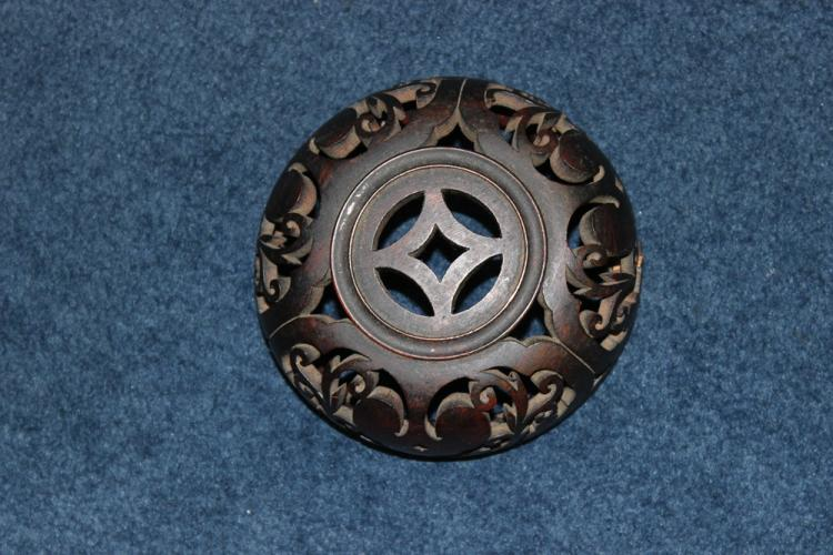 Antique Chinese Well Carved Lid
