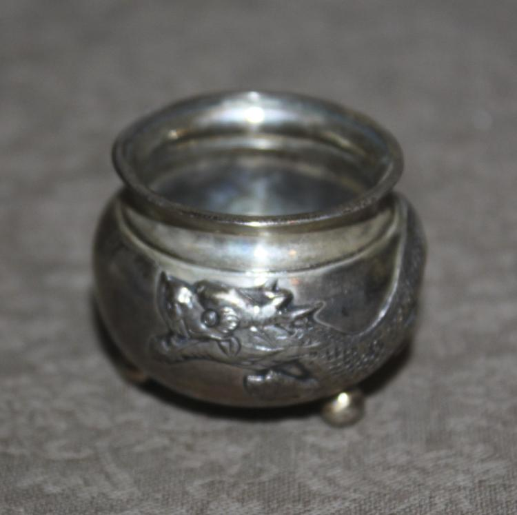 Antique Chinese 19th Century Export Sterling Silver Mini-Censer