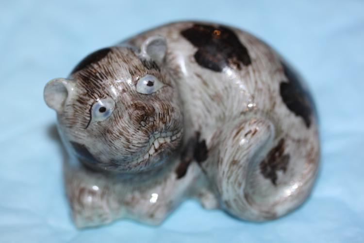 Antique Chinese 19th Century Solid Porcelain Dog
