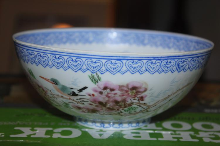 Antique / Vintage Chinese Eggshell Bowl