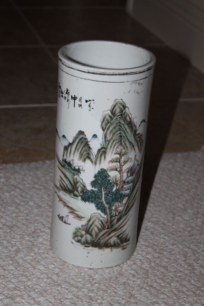 Antique Chinese 19th / 20th Century Cylinder Vase