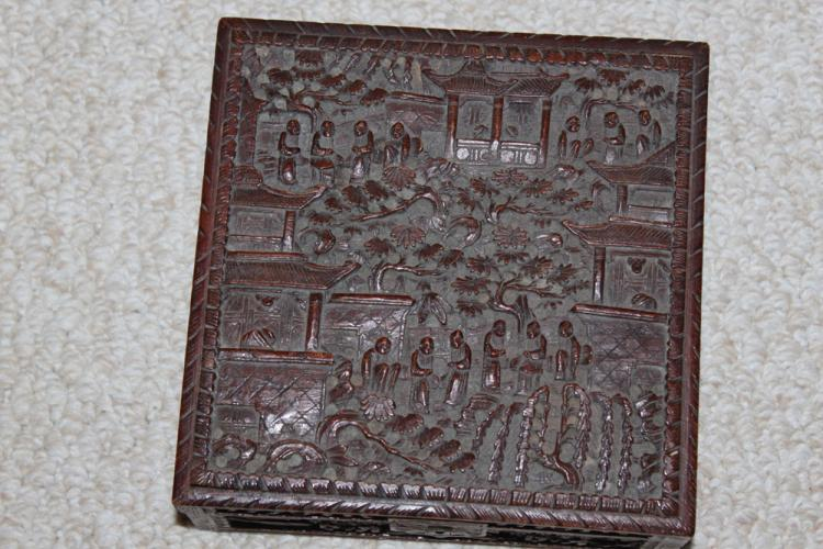 Antique Chinese 19th / 20th Century Carved Box