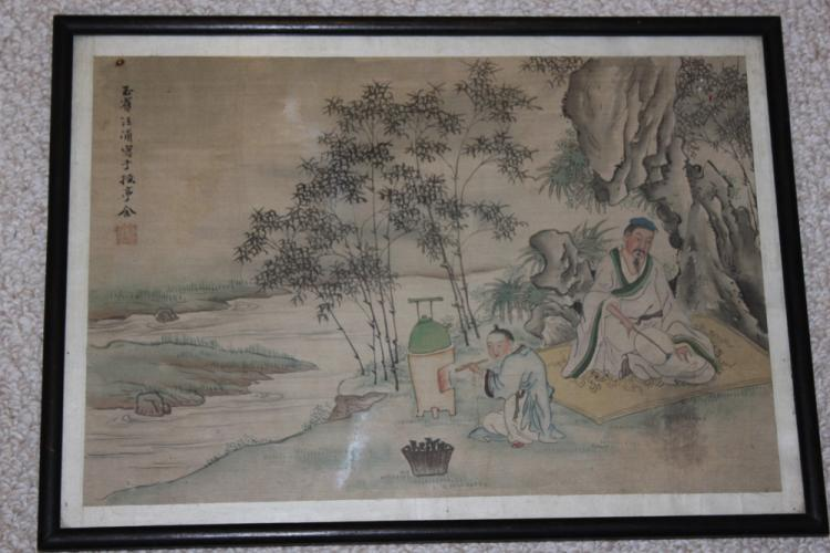 Antique Chinese Pastel or Watercolor
