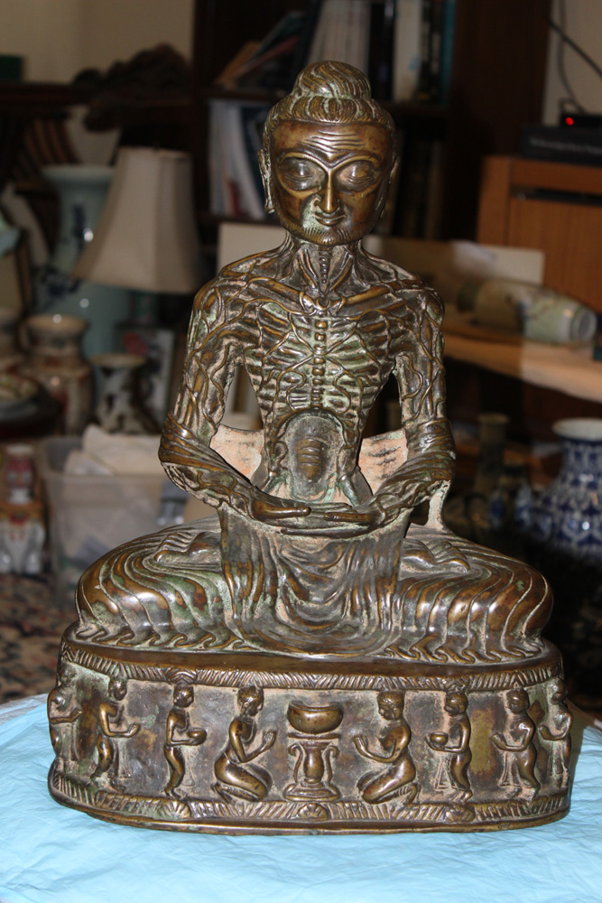 Antique Chinese / Asian Bronze of a Monk / Goddess
