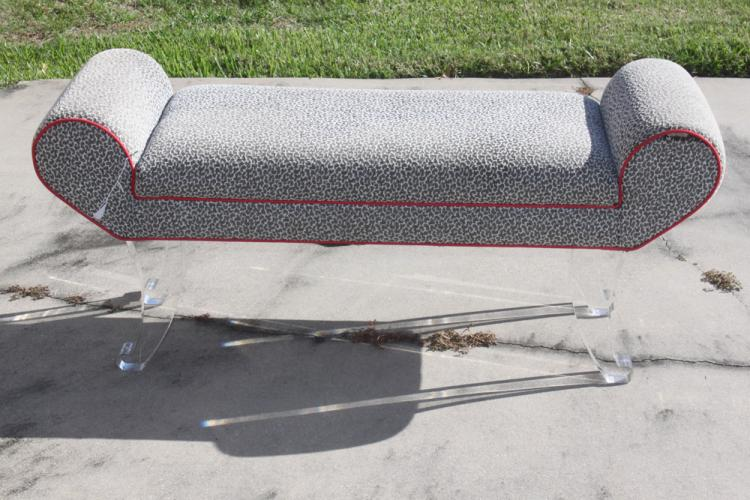 Mid Century Lucite Bench