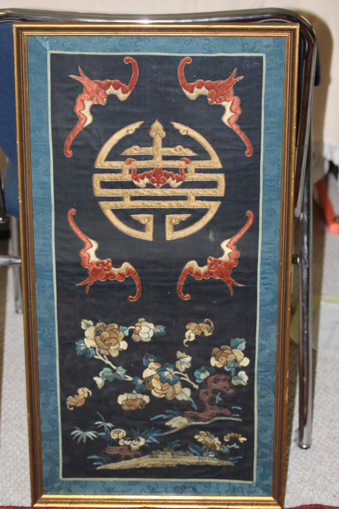 Antique / Vintage Chinese Embroidery of Five Bats