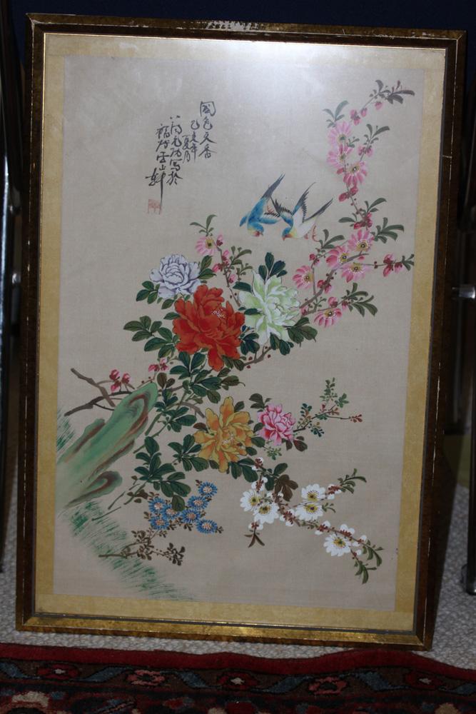 Antique / Vintage Chinese Pastel on Silk