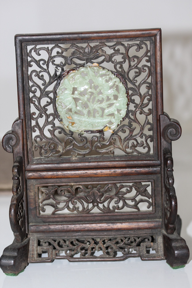 Antique Chinese 19th Century Jade Screen