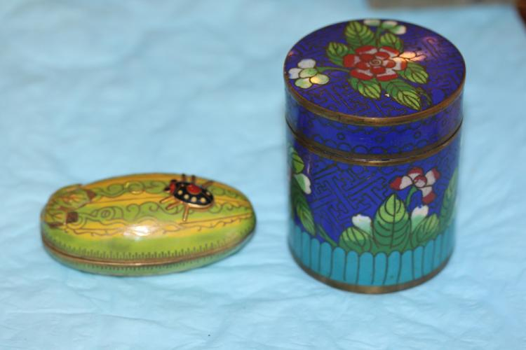 Lot of Two Chinese Cloisonne Boxes