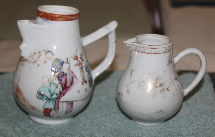 Antique Chinese 2 Export Creamers