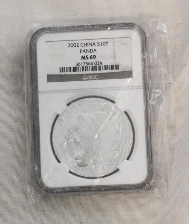 2003 Chinese NGC MSC69 1oz Pure Silver Coin