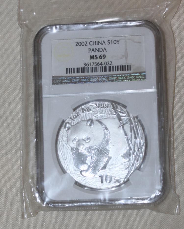 2004 Chinese NGC MSC69 1oz Pure Silver Coin