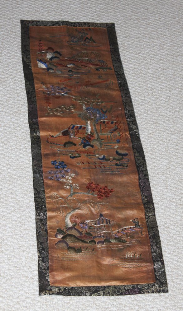 Antique Chinese 19th Century Silk Textile