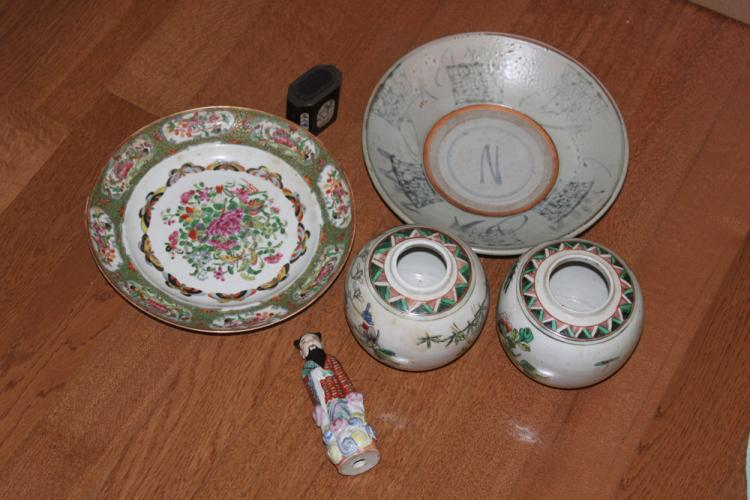 Lot of Six Chinese Antiques from 19th / 20th Century