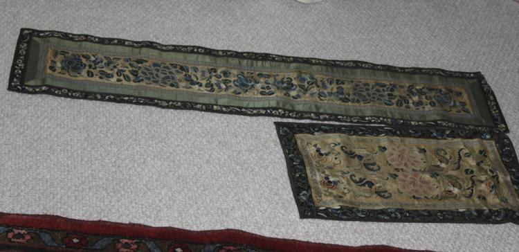 Antique Chinese Lot of Two Silk Textiles