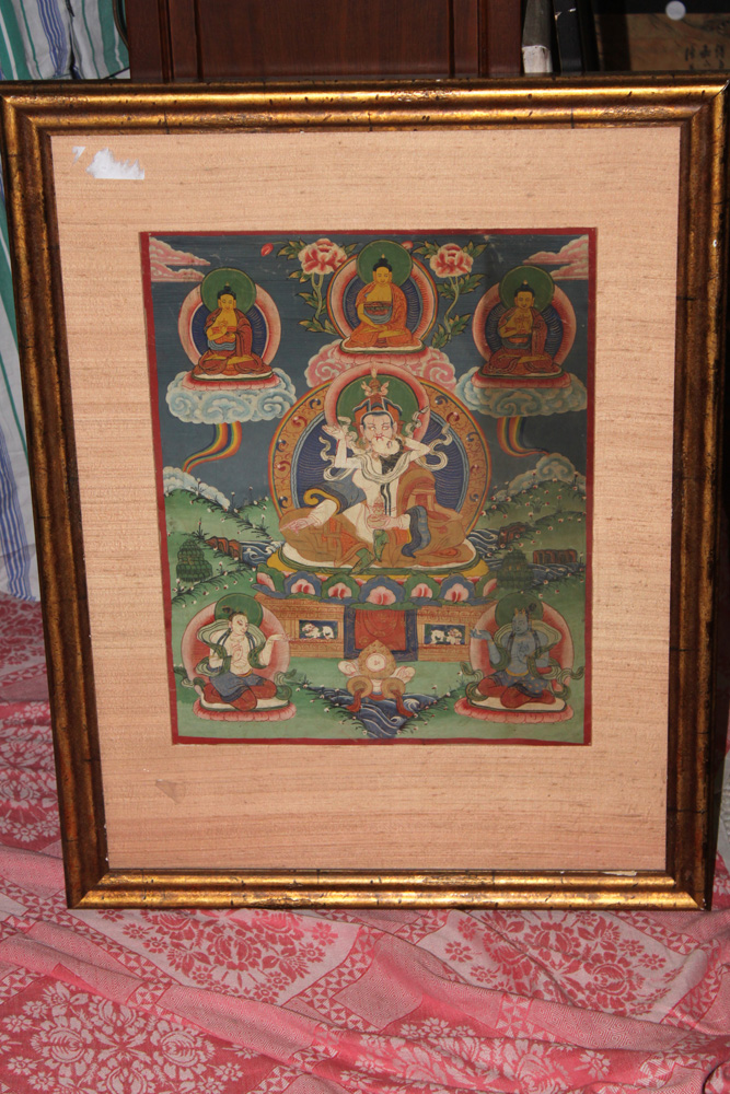 Antique Tibetan Framed Thanka