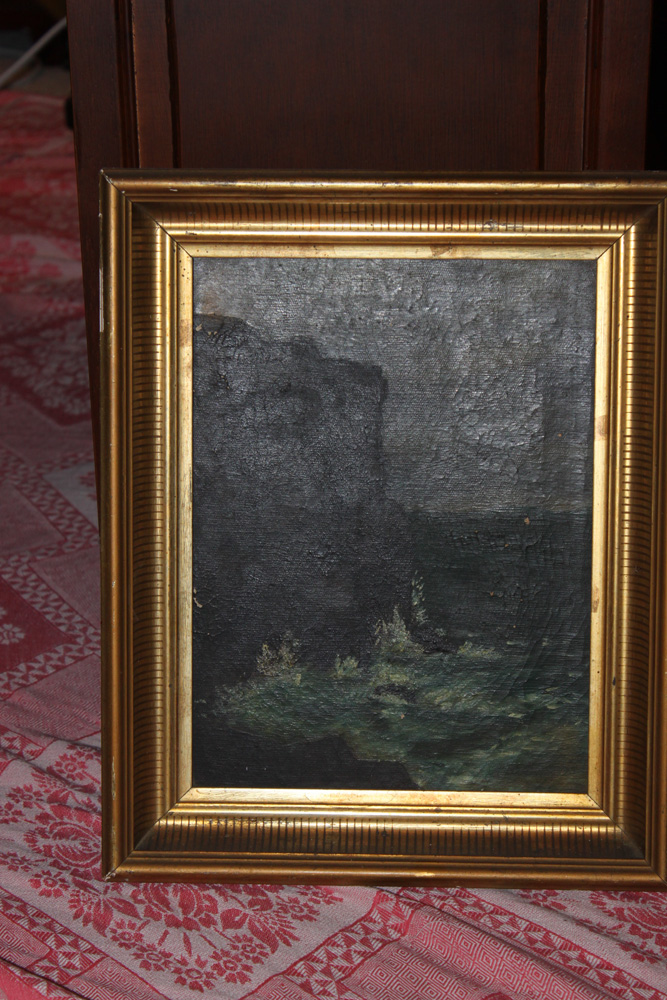 Antique 19th Century Seascape Oil on Canvas
