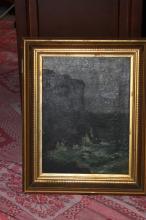 Antique 19th Century Seascape Oil on Canvas