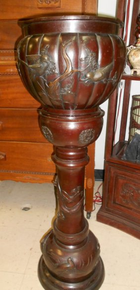 Antique 19th Century Japanese Bronze Plant Stand