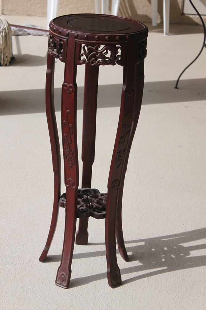Asian Rosewood Tall Stand