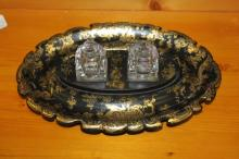 Early 20th Century Chinese / Italian Chinoiserie Inkwell