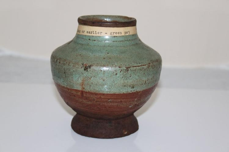 Sung Dynasty Chinese Green Pot