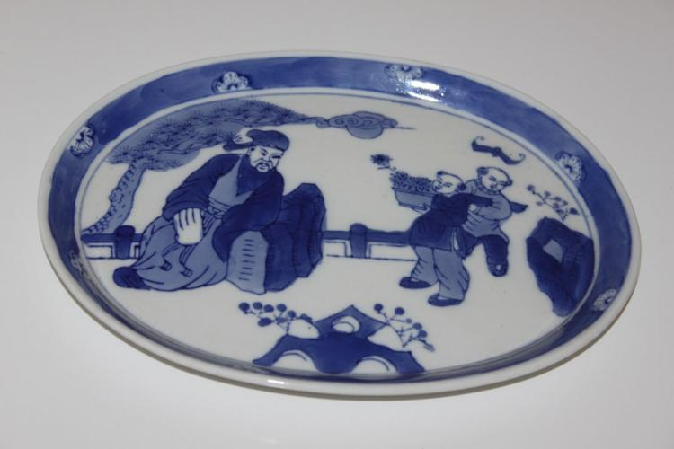 19th Century Chinese Blue and White Dish