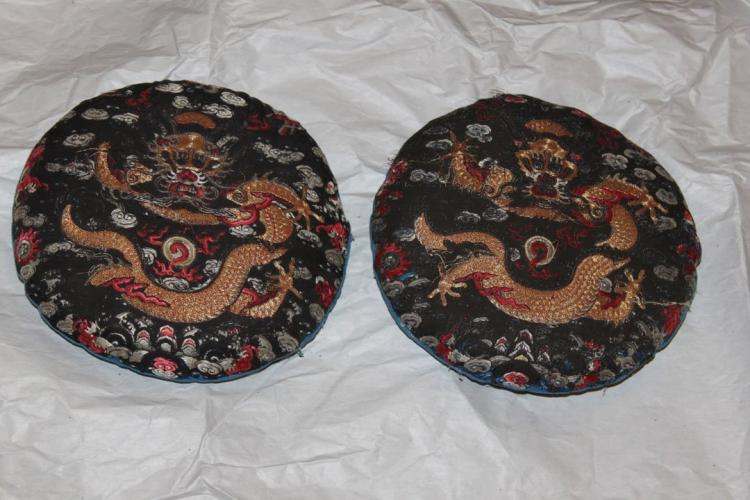 Pair of Dragon Pillows Antique Chinese 18th / 19th Century.