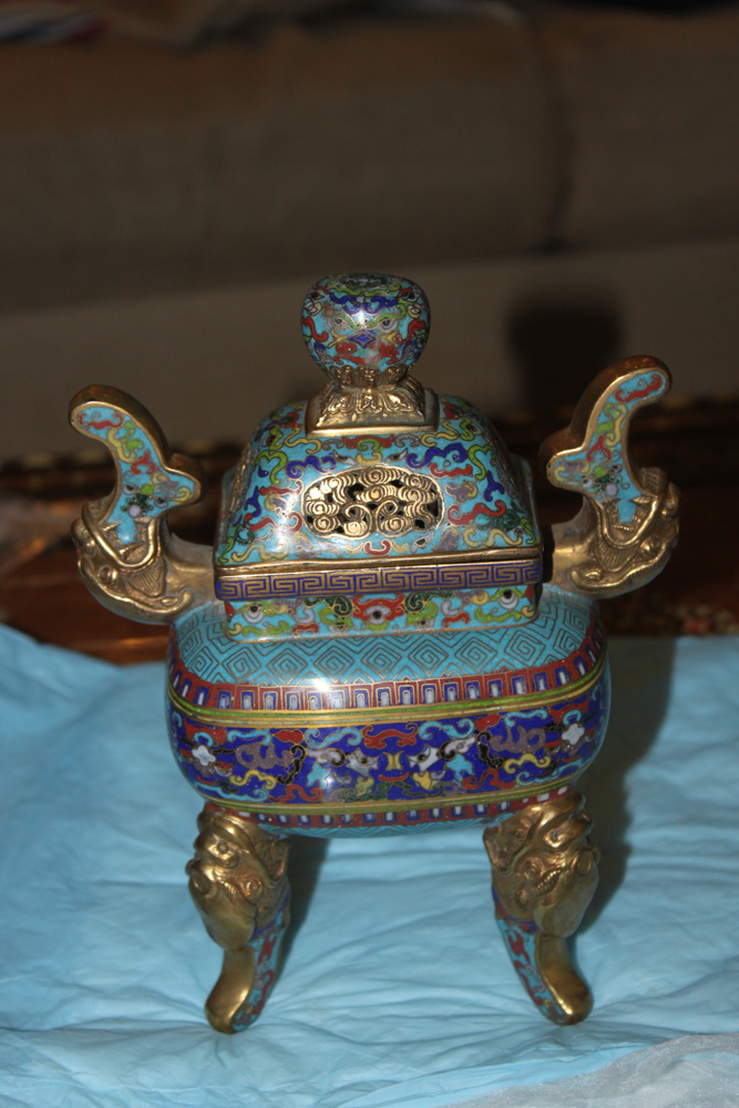 Chinese Cloisonne Incense Burner