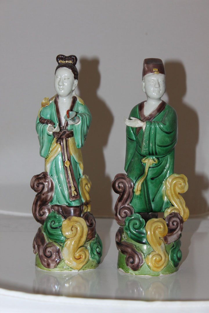 Pair of Chinese 19th / 20th Century Couple Statues