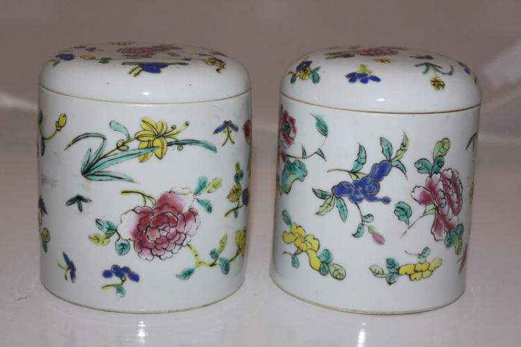 Pair of chinese Cover Jars or Box
