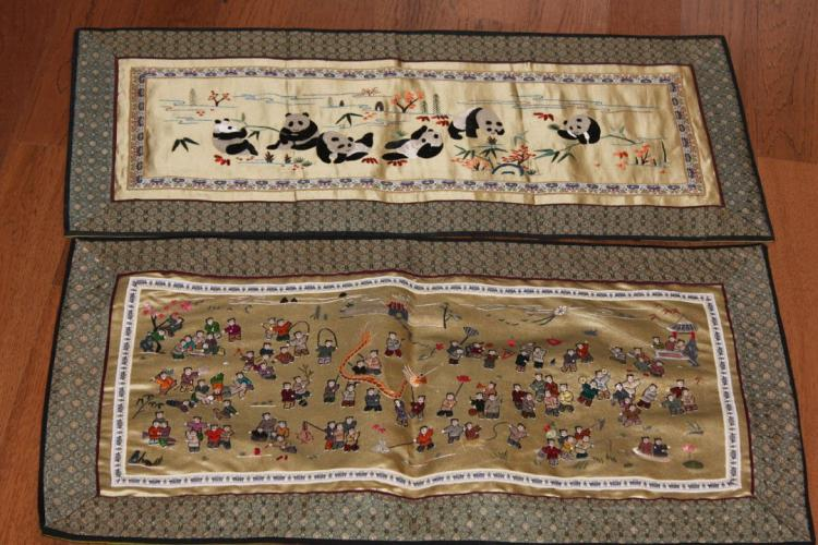 Pair of Chinese Textiles