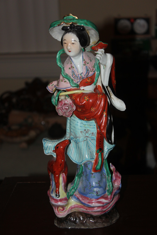 E. 20th C. Chinese Hand Painted Porcelain Lady